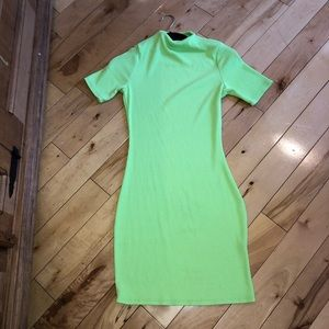 Neon stretchy fitted dress